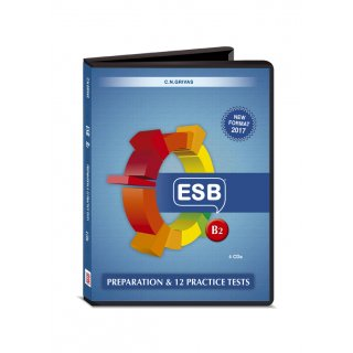 ESB B2 PREPARATION & PRACTICE TESTS AUDIO CDs (4) NEW FORMAT 2017